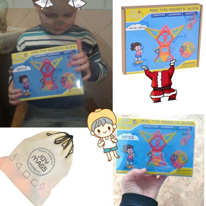 Магнитный Конструктор Мини Строительные Блоки 90 шт. Строительные Игрушки для Детей Развивающие Игрушки Пластиковые Творческие Кирпичи SuSenGo