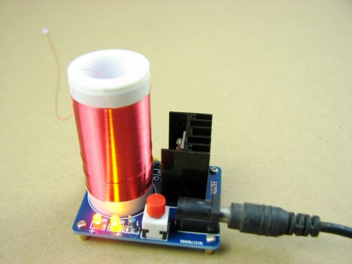 Микро мини катушки тесла удивительный мигающий Генератор DIY КОМПЛЕКТЫ Обучения эксперимента