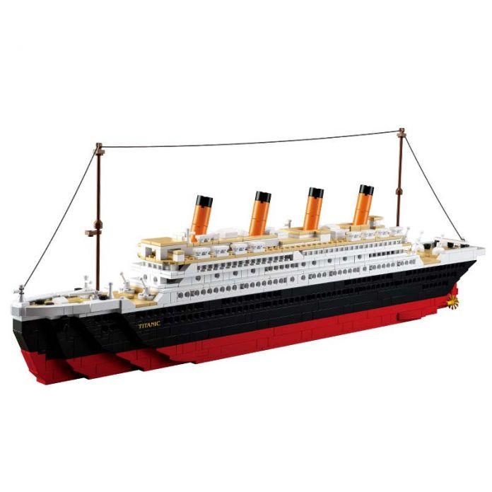 Модель строительство комплекты совместимы с lego city RMS Titanic корабль 3D блоки Образовательные модели здания игрушки хобби для детей