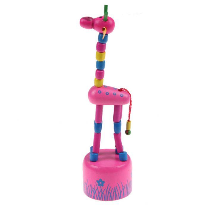 1 ШТ.-Качалка Жираф Игрушка Дети Танцуют Стоя Провод Управления Игрушки Животных Детские Развивающие Деревянные Блоки Игрушки Случайный Цвет