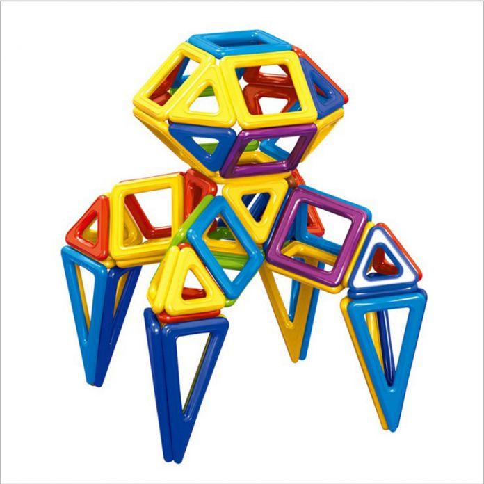 Мини 158 шт./лот Магнитные Модели Строительные Блоки Строительство Игрушки DIY 3D Магнитный Конструктор Обучения Образовательные Кирпичи Игрушки Для Детей