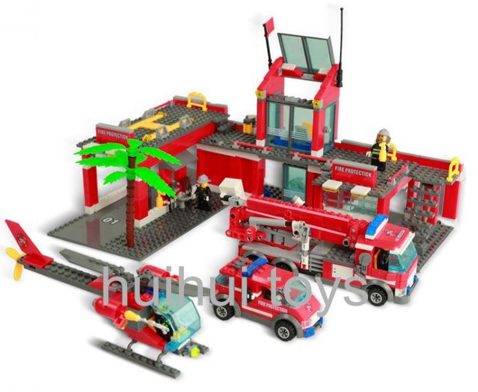 2015 Оригинал Кази City Пожарная Станция 774 шт./компл. Блоки Образовательные Кирпичи Игрушки brinquedos Город Пожарный Bringuedos