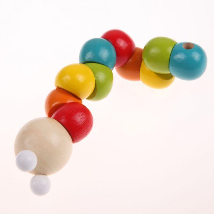 Детские Деревянные Игрушки Ручной Полировкой Разнообразие Твист-цветные Насекомые Развивающие Inchworm Деревянные Мультфильм Животных Игрушки Блоки