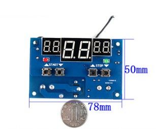1 шт. DC12V термостат Интеллектуальный цифровой термостат регулятор температуры С NTC датчиком W1401 светодиодный дисплей