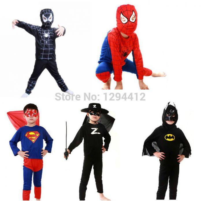 Костюмы супергероев на хэллоуин для детей