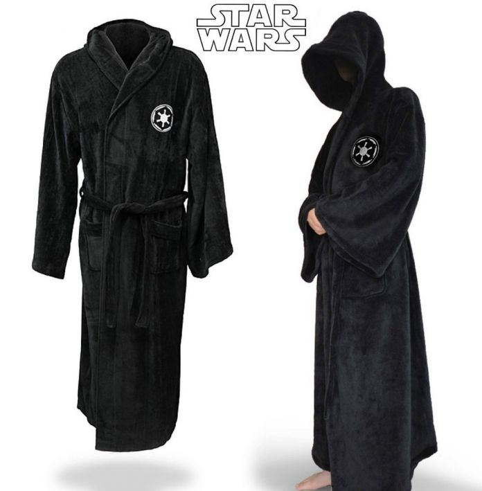 Звездные войны Jedi Knight Делюкс Банный Халат Халат Карнавал Косплей Костюм Черный Халат Бесплатная Доставка