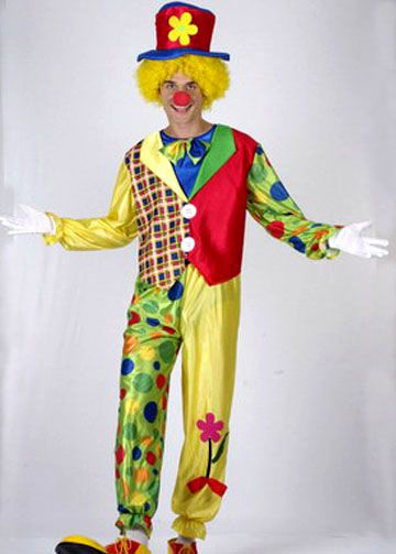 Взрослых Клоун Костюм Хэллоуин Костюмы Игра Одежда Костюмы Клоуна Одежда, для Фантазии Платье Партии Маскарад Производительности