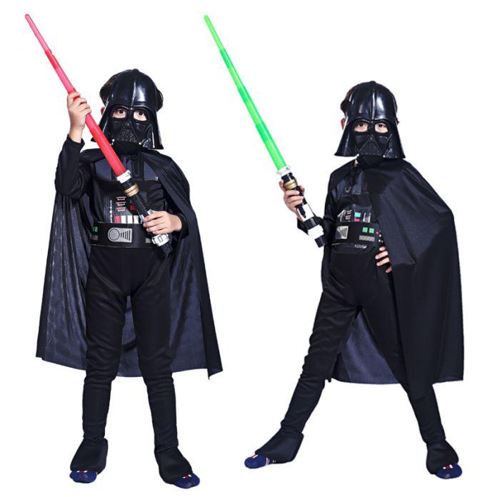 Хеллоуин Костюм мальчиков одежда черный лед воин ролевая Star Wars hero сценический костюм костюмы Детский праздник
