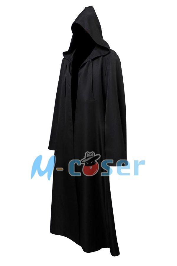 Новый дарт вейдер терри джедай черный халат звездные войны рыцарь-джедай толстовка плащ хэллоуин косплей костюм для взрослых мужчин