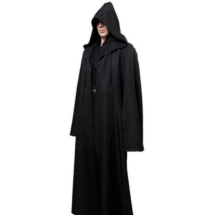 Мужчины Хэллоуин Star Wars Jedi Плащ Cos Играть Взрослых С Капюшоном Одеяние Плащ Cape Хеллоуин Костюм Черный Коричневый