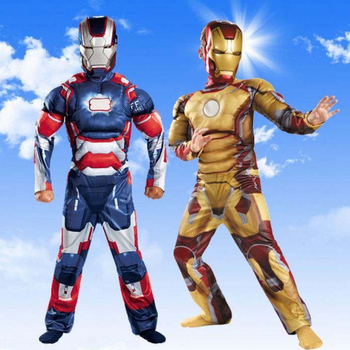Ребенок Дети Хеллоуин Костюм Железный Человек Марк Патриот Мышцы Фантазия Мстители Супергерой Косплей