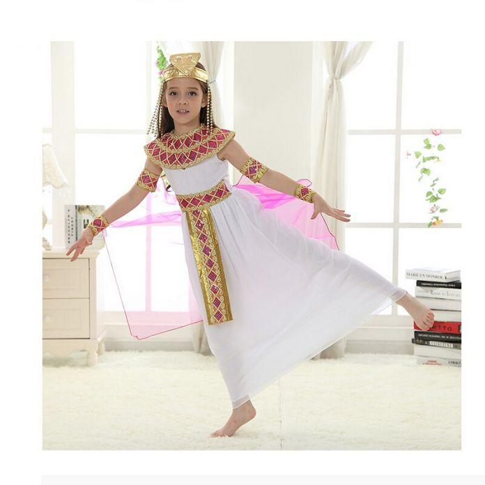 Дети Девочки Косплей Halloween Party Египет Принцесса Платье Милые Королева Косплей Карнавал Партия Одежды