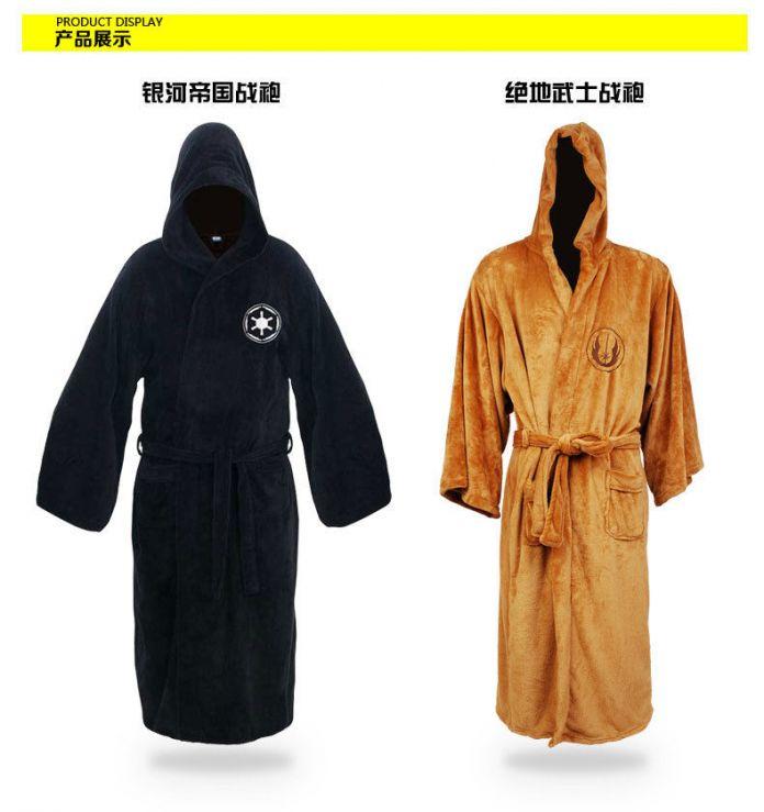 Звездные войны рыцарь-джедай халат делюкс банный халат Darh вейдер косплей костюм браун халат платье платье спать носить пижаму