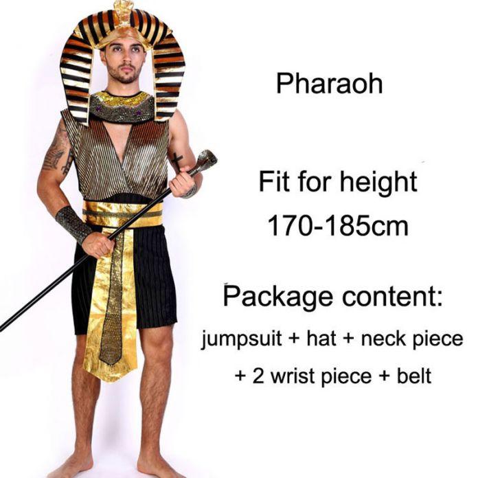 Хэллоуин Костюмы Древний Египет Египетский Фараон, Царь Императрица Клеопатра Королева Священник Костюм Косплей Одежда для Мужчин Женщин