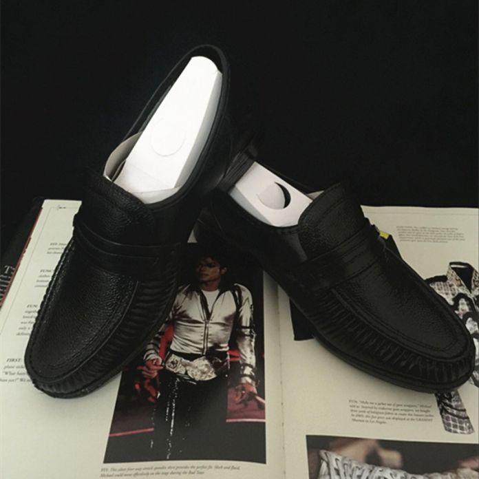 MJ Майкл Джексон Классическая Коллекция Легко Moonwalk Танцевальная Панк Кожаные ботинки Партии Hallowmas Подарок