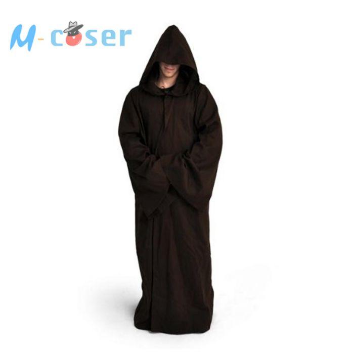 Звездные войны джедаев халат дарт вейдер терри косплей костюм джедай плащ банный халат