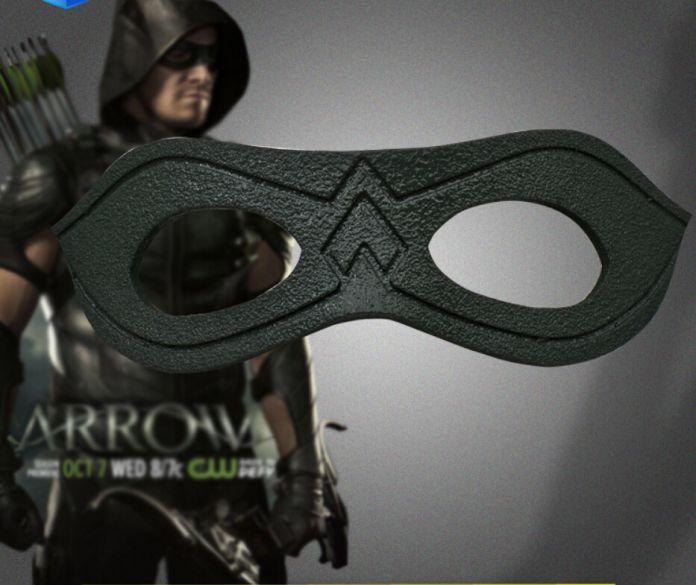 Телевизора зеленая стрела костюм кожаная маска глаз оливер куин косплей костюм хэллоуин одежда индивидуальные маска для глаз-тени