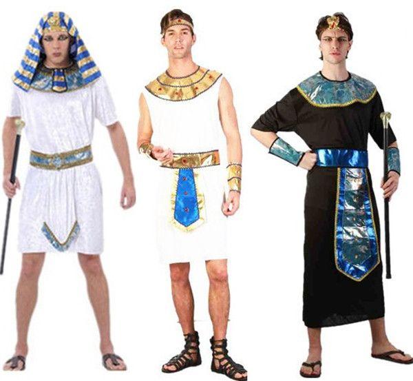 2016 Хэллоуин косплей взрослый костюм детей костюм Египетского Фараона Египет принцесса семейные костюмы Принц