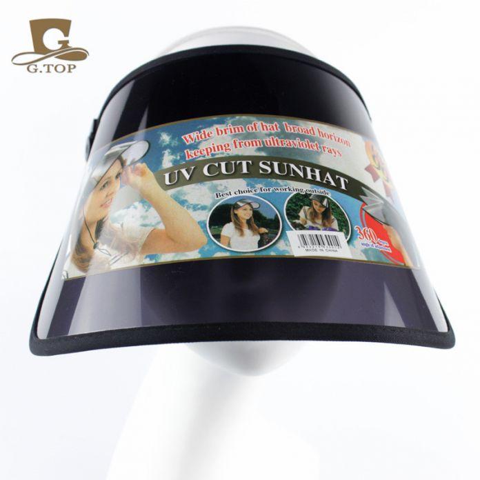 Открытый пластиковый Козырек От Солнца шляпа УФ-Защита Гольф Спорт CAP регулируемая