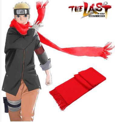 Бесплатная доставка Naruto фильма последний - узумаки наруто красный шарф аниме косплей аксессуары