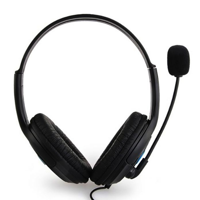 Горячие Продажи двойной большой уха Проводной Игровой Чат Гарнитура Наушники Микрофон для Sony Playstation 4 PS4 Черный