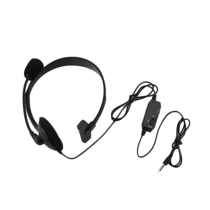 Черный Проводная Гарнитура Игры Наушники Микрофон Повязка с Микрофоном Стерео Бас 3.5 мм Для Компьютера ПК PlayStation 4 PS4 новый