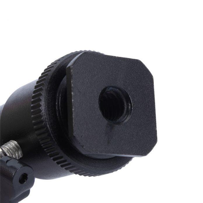 Видео камеры 1/4 горячий башмак адаптер колыбель мяч головой с замком для штатив из светодиодов вспышка света кронштейн держатель