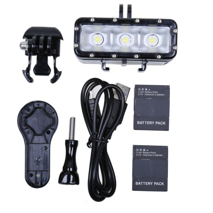 НОВЫЙ Go Pro Аксессуары Подводный Водонепроницаемая Дайвинг Светодиодные Лампы для GoPro Hero 4 3 + 3 SJ4000 Камеры SJCAM