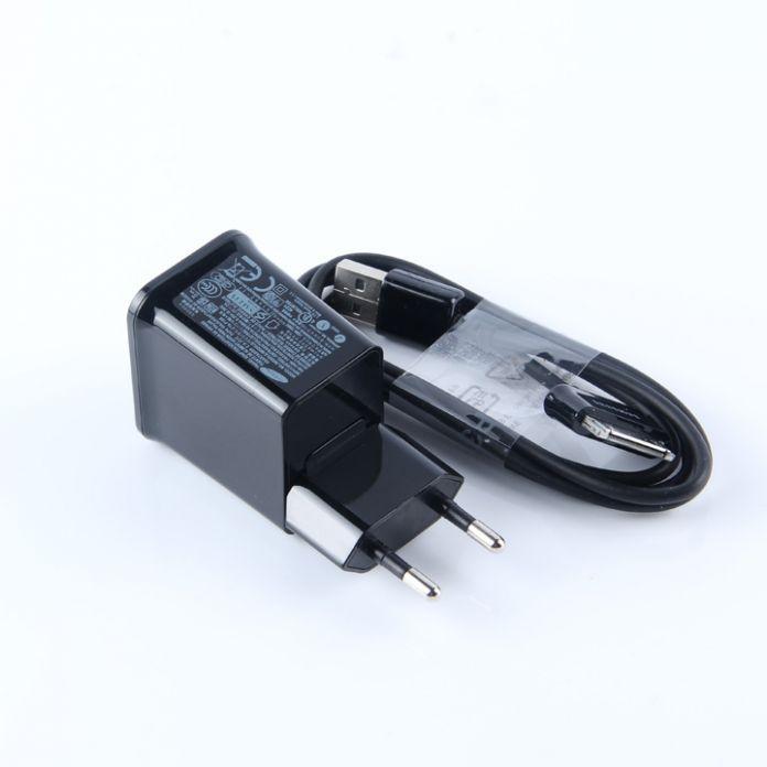 ЕС Адаптер ПЕРЕМЕННОГО ТОКА Зарядное Устройство Для Samsung Galaxy Tab 2 P5200 P3100 P7510 P5100 P5200 N5100 N8000 N8010 P1000 USB кабель