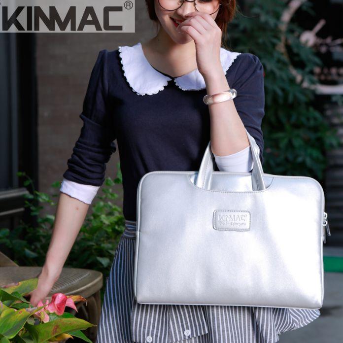Kinmac Кожа сумки ноутбук для мужчин, плечо женщины мешок втулки Компьтер 14 для macbook air 13 случай компьютерные аксессуары
