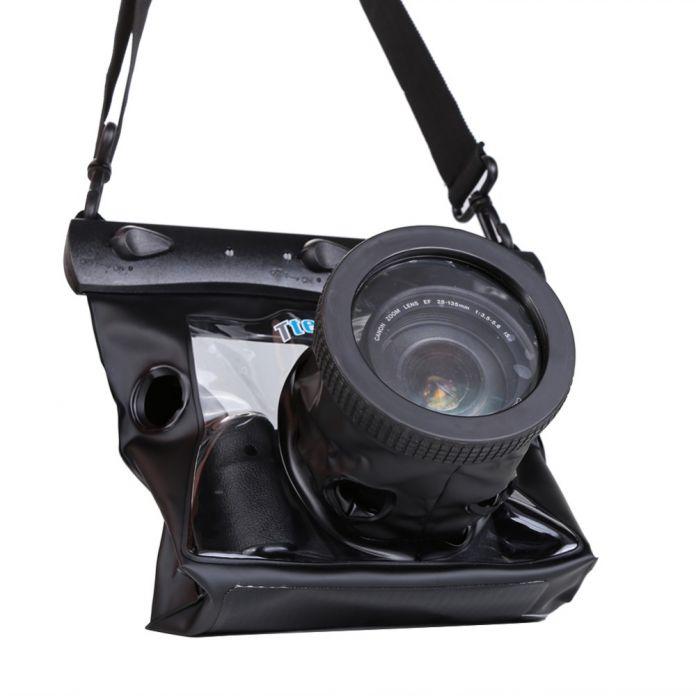 Tteoobl GQ-518M 20 М Водонепроницаемый Подводная Камера Дайвинг Сумка Чехол для NIkon Canon Digital SLR Camera 10*8 см