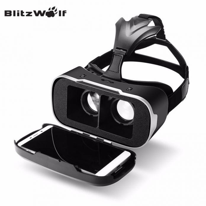 BlitzWolf Оригинальный BW-VR3 3D VR Коробка Очки Виртуальной Реальности Гарнитура Маску Для 3.5-6.3 дюймов Смартфон