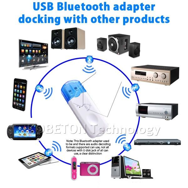 Беспроводной USB Bluetooth Audio Музыка Приемник Адаптер Ключ для Динамик для iPhone 6 6 + для Samsung S5 HTC ONE M8 SONY Xperia и т. д.