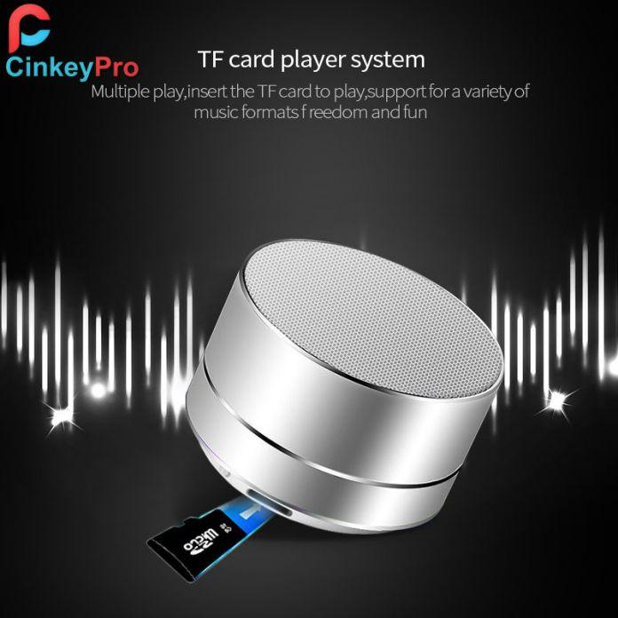 CinkeyPro Bluetooth 4.0 Портативный Беспроводной Динамик Алюминия Свет Сабвуфер Твитер Аудио Звук Для iPhone XiaoMi