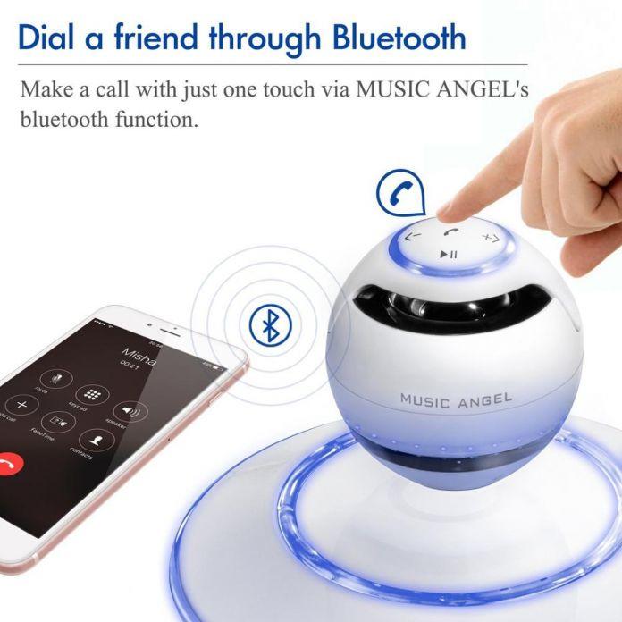 Bluetooth-динамики СИД Портативный Беспроводной Bluetooth 4.0 Плавающей Левитация Спикер 360 Градусов Поворот с Микрофоном