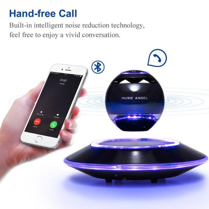 Bluetooth-динамики теннисный мяч LED Портативный Беспроводной Bluetooth 4.0 Плавающей Левитация Спикер 360 Градусов Поворот с Микрофоном