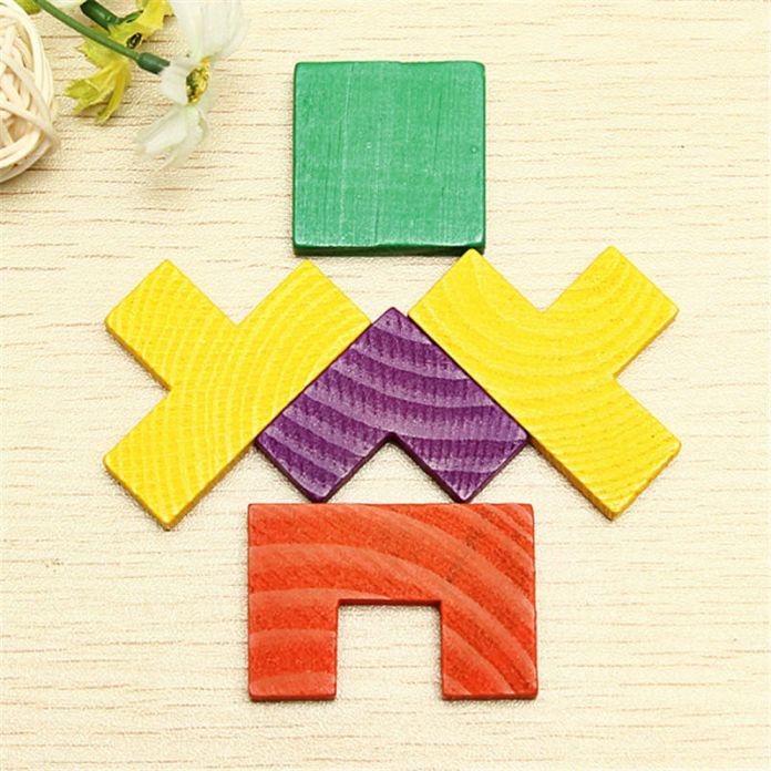 Новый высокое качество деревянные Tangram мозг игра тетрис детей дошкольного возраста дети играют деревянные игрушки обучение развивающие игрушки