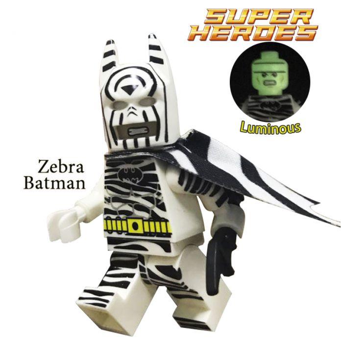 1 ШТ. головы ночник Зебра Пользовательские Темный Рыцарь Бэтмен Minifigures Super Heroes Строительные Блоки Детей Игрушки Рождество подарок