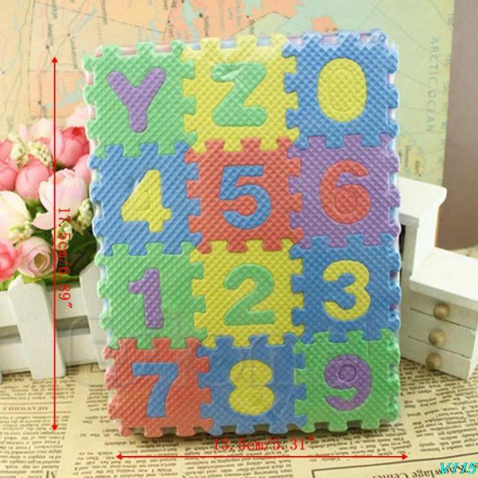 Новый 36 Шт. Мини Размер Головоломки Малыш Обучающие Игрушки Алфавит AZ Письма Цифра Пенном Матраце