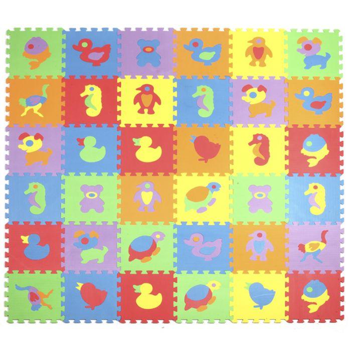 Продвижение 10 шт./лот животных игровой коврик детский мультфильм ЕВА головоломки коврики детские пены eva лоскутное коврики EDD004