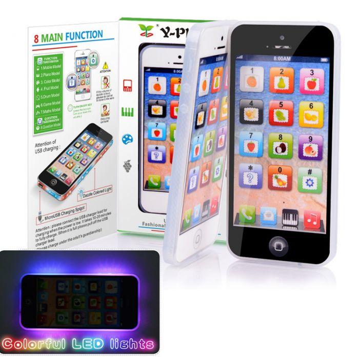 1 Шт Детские Малыш Образования y-телефон Английский Изучаю Мобильный Телефон Игрушки Рождественские Подарки на Новый Год