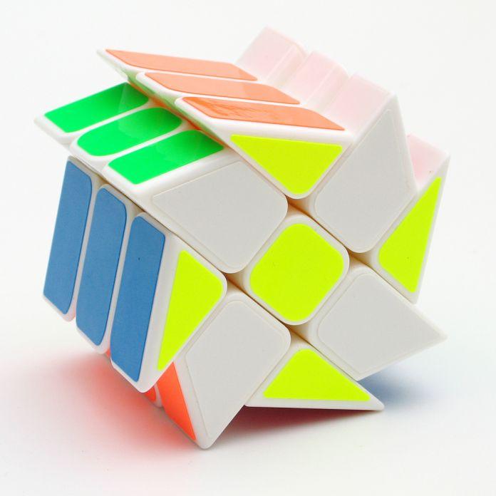 YongJun YJ Горячие Колеса 3x3x3 Магический Куб Головоломка Для Детей Взрослых-Белый/Черный Цвета