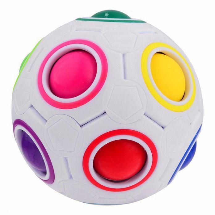 ГОРЯЧАЯ Сферические Куб Радуга Мяч Футбол Magic Speed Куб Головоломка детские Развивающие Игрушки Кубики ГМП для ребенка