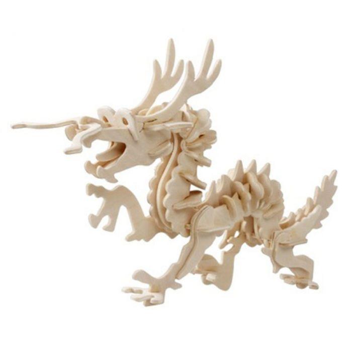 3D дерево дракон павлин головоломки для детей взрослых животных головоломки автомобиля головоломки деревянные игрушки для обучения и образовательные игрушки
