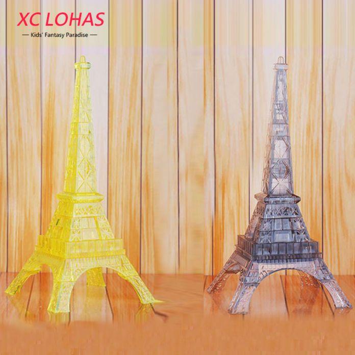 1 шт., 3D стереоскопическая головоломка Эйфелева башня, светодиодный мигающий объёмный пазл в форме Эльфевой башни, кристаллический 3D пазл, креативная игра для взрослых, симпатичное украшение