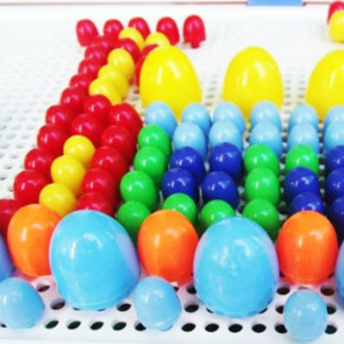296 Шт. Ногти Гриб Детские DIY 3D Головоломки Пластиковые Игрушки Ранние Развивающие Игрушки Творческая Мозаика Комплект Интерактивная Игрушка