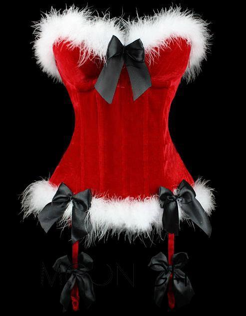 Мода Sexy Женщины Бархат Формирователь Корсеты Бюстье Белье Overbust Корсеты Хэллоуин Рождество Пати Белый Красное Платье Плюс Размер