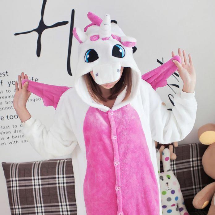 Pijama Unicornio Мультфильм Косплей Домашней Одежды Фланель Теплый Животных Пижамы One Piece Для Взрослых Onesie Пара Pajama Наборы
