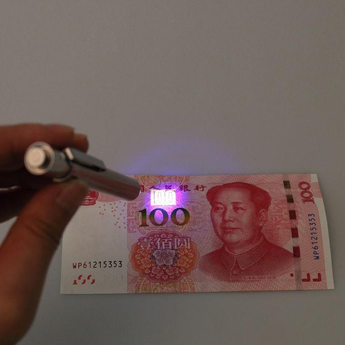 Мини 2 в 1 УФ Валют Деньги Примечание Детектор Поддельные Проверки С Вытяжным Шнуром Банкноты Тестер Пера