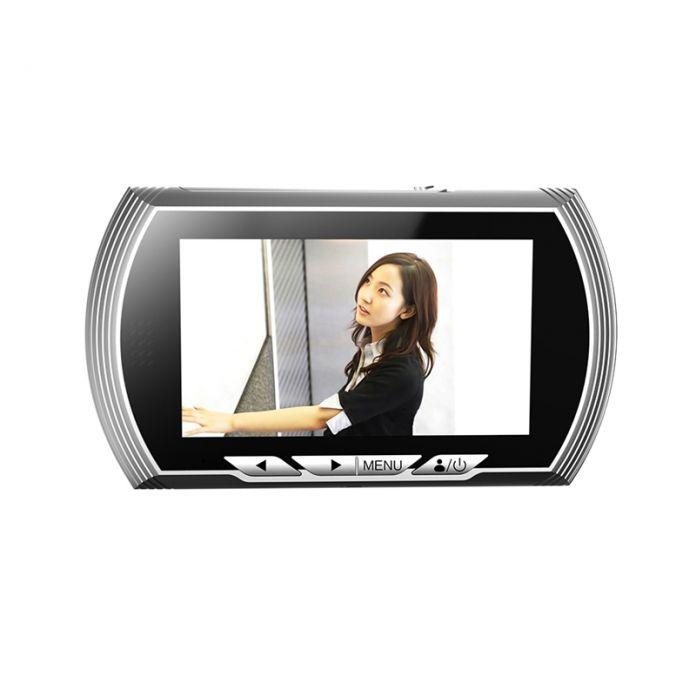 4.3 Дюймов HD Smart Дверной Глазок просмотра Видео Запись Двери зрителей Камеры ИК Ночного Видения ПИР Датчик Движения Не Беспокоить дверной звонок
